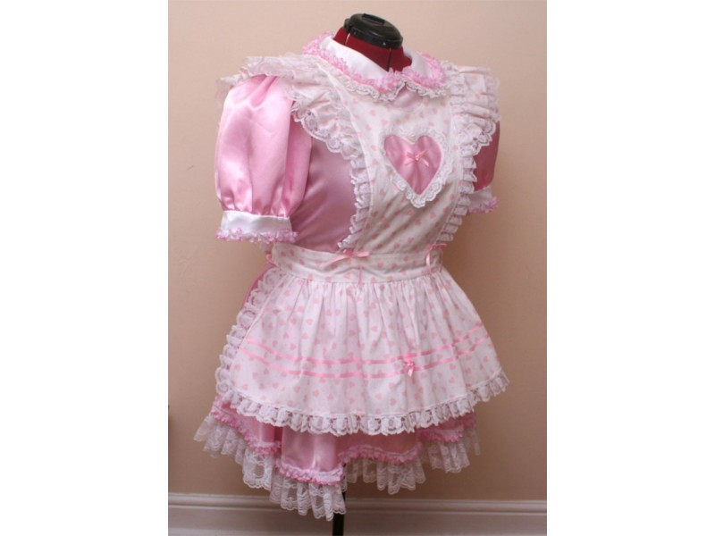 Satin and Lace Sissy Uniform - One Off Design
