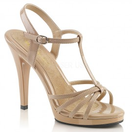 Platform T-Strap Strappy Sandal in Larger size for Sissy Maids