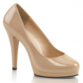 Patent Platform Court Shoe in larger sizes for Sissy Maids