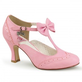 Flapper Cute Bow Shoe with Kitten Heel
