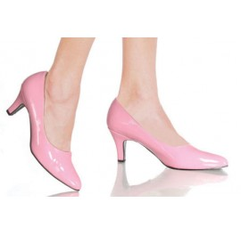 Low heeled court shoe wider fitting for Sissy or TV