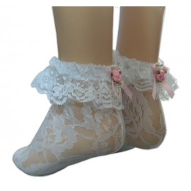 Lace anklets with Satin Bows Sissy maids 07