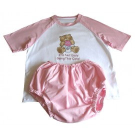 AB/DL Pink Sissy Baby Sleep Suit