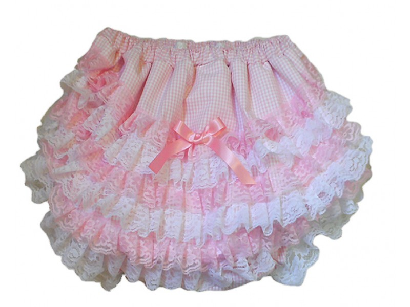 Gingham Adult Sissy Baby Trainer Pants
