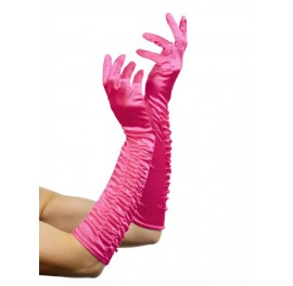 Ruched Satin glove Sissy Maids TV/CD
