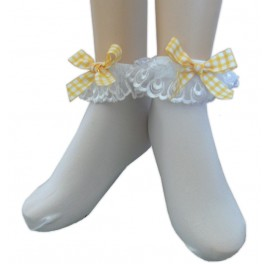 Anklets with Gingham bows Sissy Maids