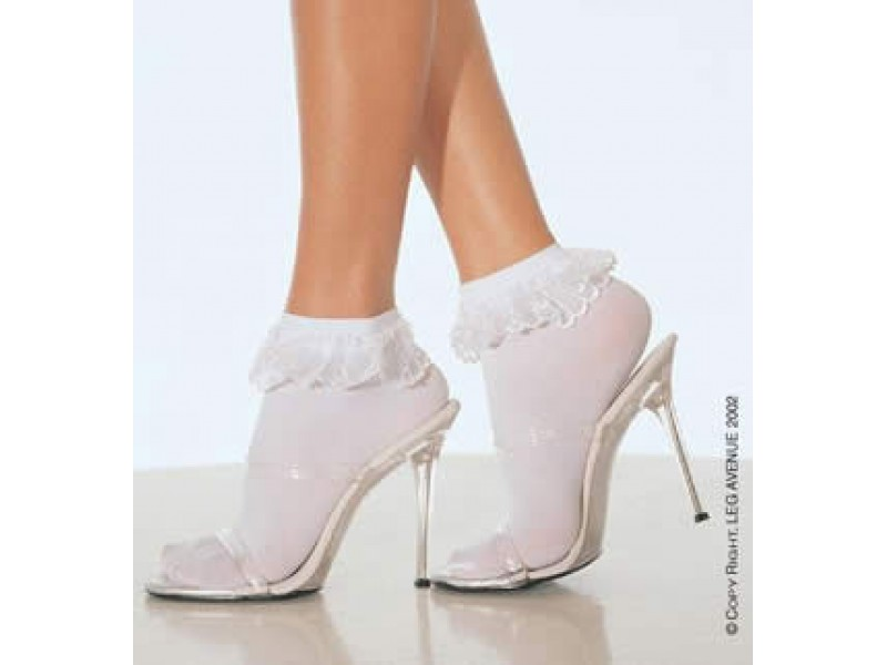 Anklet with ruffle Sissy maids style