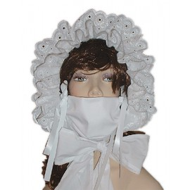 Cotton Frilly Bonnet AB Sissy Babies