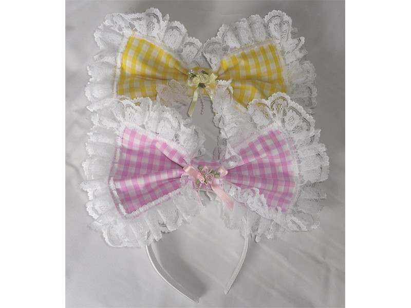Gingham Hairbow Sissy maids