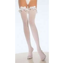 Opaque stockings ruffle & bow  larger sizes for Sissy Maids