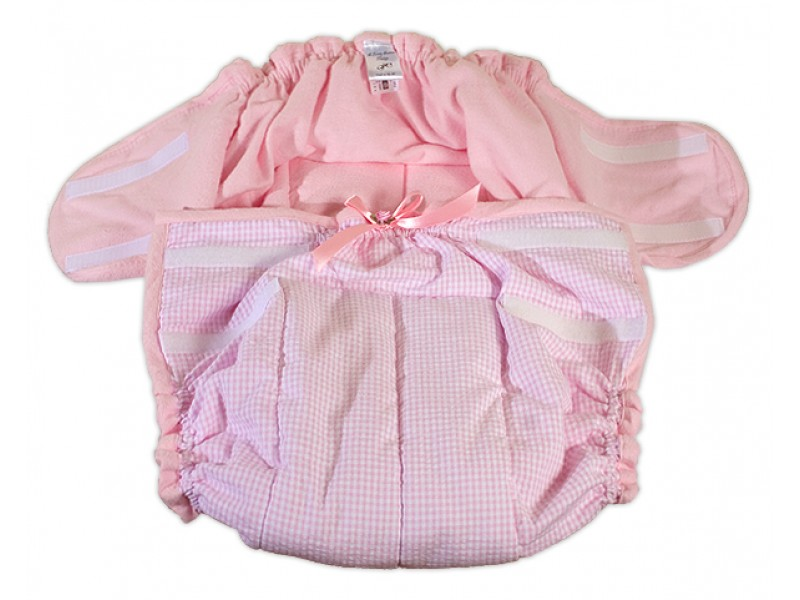 AB/DL Gingham Re-usable Diaper