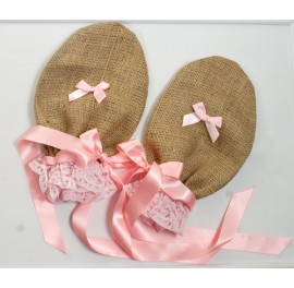 Hessian Sissy Baby Punishment Mittens