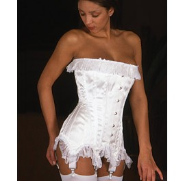 Frilly Overbust Corset - Sissy maids