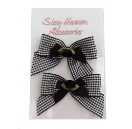 Gingham Sissy Shoe Clips