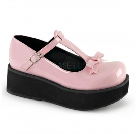 Lolita Baby Pink Patent Shoe with bow